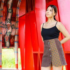 Brown Velvet Skirt with Print Gauteng