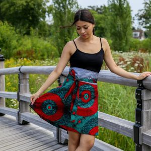 Skirt Zuma with Green Red Print