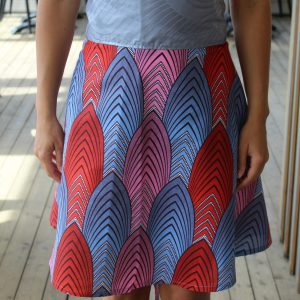 Skirt Cairo with African Print