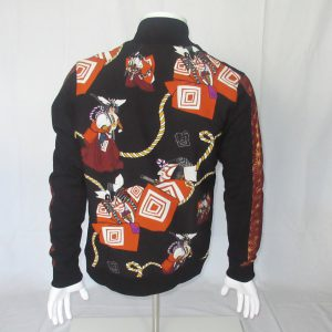 Black Jacket with Print Kabuki
