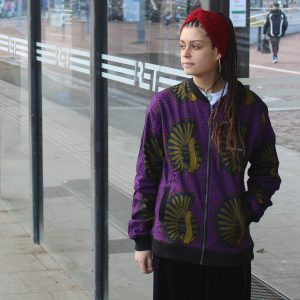 Jacket with Print Roxo