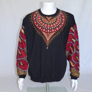 Sweatshirt Red Feathers