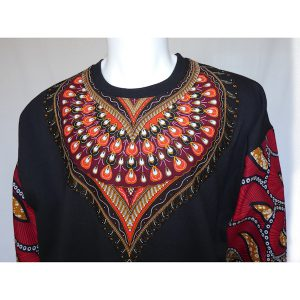 Sweatshirt Red Feathers 1