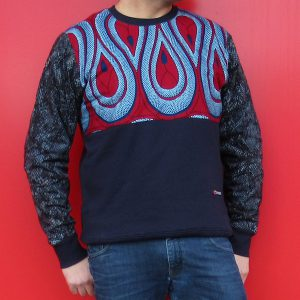 Navy Sweatshirt with Print Boomslang