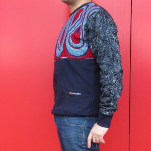 Navy Sweatshirt with Print Boomslang 1