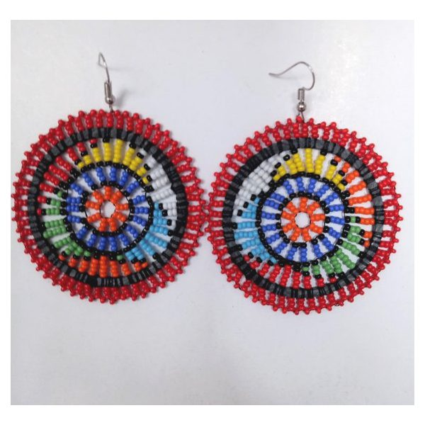 Earrings Masasi Red