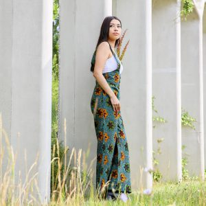 Jumpsuit Liberdade with Green Brown Print 1